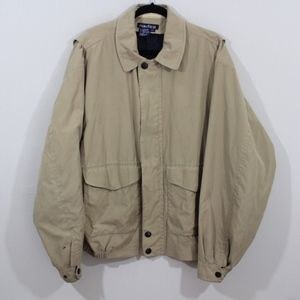 Vintage 90s Nautica Spell Out Bomber Jacket Large
